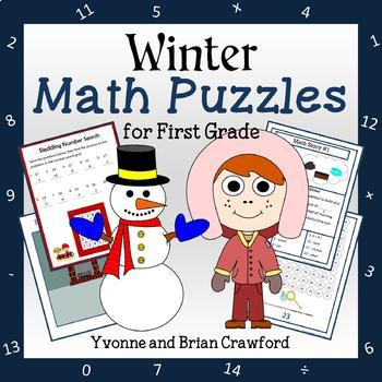 Winter Math Puzzles - 1st Grade Common Core