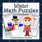 Winter Math Puzzles - 1st Grade Common Core