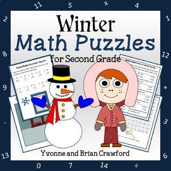 Winter Math Puzzles - 2nd Grade Common Core