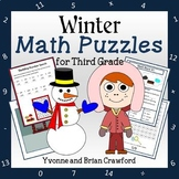 Winter Math Puzzles - 3rd Grade Common Core