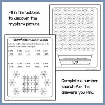 Winter Math Puzzles - 3rd Grade Common Core