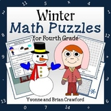 Winter Math Puzzles - 4th Grade Common Core