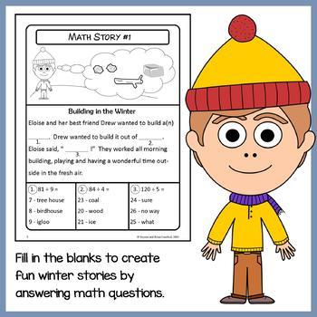 Winter Math Puzzles - 4th Grade Common Core