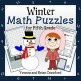 Winter Math Puzzles - 5th Grade Common Core