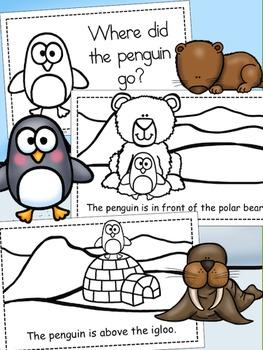 Penguins - Positional Words Emergent Reader