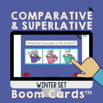 Comparative/Superlative Speech Therapy Grammar Cards: Winter Activity