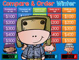 Winter Compare & Order Jeopardy Style Game Show - CC  2nd/3rd Gr