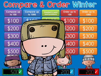 Winter Compare & Order GAME SHOW - CC  2nd/3rd Gr
