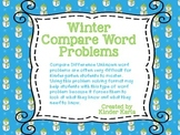 Winter Compare Word Problems