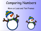 Winter Comparing Numbers (More/Less and Ten Frames)