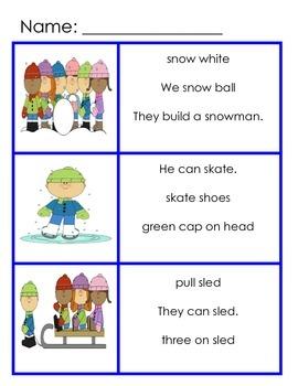 Winter Complete Sentences