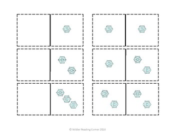 Winter Composing and Decomposing Center- Snowflake Dominoes- Math Center
