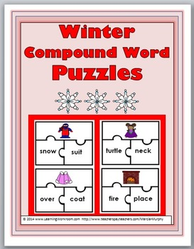 Compound Words Puzzles - Winter Theme - Winter Activities