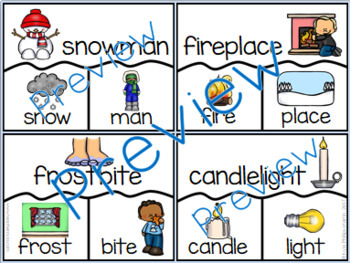 Winter Compound Word Puzzles