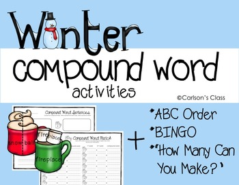 Winter Compound Words Activities