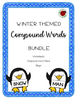 Winter Compound Words Bundle