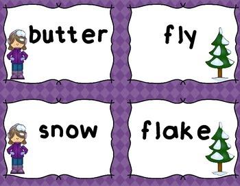 Compound Words | Winter Compound Words | Winter Activities