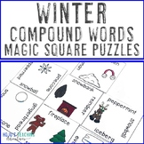 Winter Literacy Center Game | Compound Words | Christmas A
