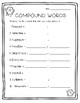 Winter Compound Words Sheets