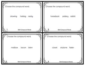 Compound Words Task Cards (SAT-10 Practice)