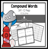 Compound Words Task Cards (SAT-10 Practice)