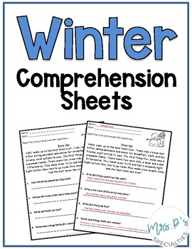 Winter Comprehension Pack