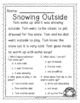 Winter Comprehension Passages for Kinder and First Grade