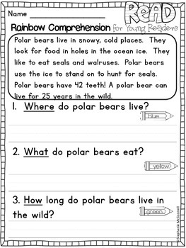 Winter Comprehension Passages for Young Learners