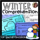 Winter Comprehension for Special Ed   Special Education and Autism Resource