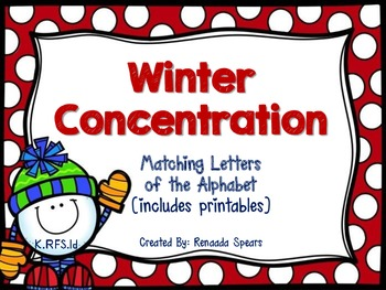 Winter Concentration: 3-in-1 Alphabet Matching Activity