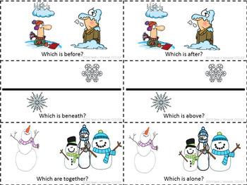 Winter Concept BINGO - A Game of Basic Concepts