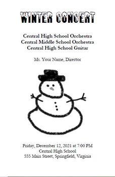 Winter Concert Template