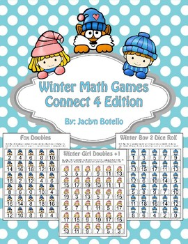Winter Math Center Games: Doubles, Doubles +1, Two Dice Roll
