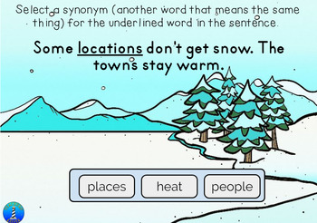 Winter Context Clue via BOOM Digital Task Cards.