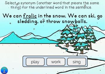 Winter Context Clue via BOOM Digital Task Cards.