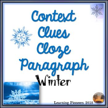 Winter Context Clues Cloze Passage