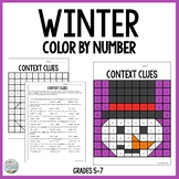 Winter Context Clues Color By Number Freebie
