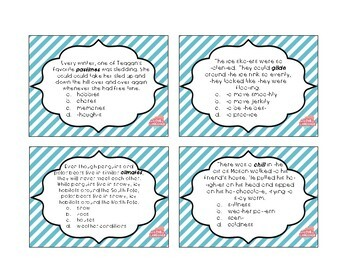 Winter Context Clues Flashcards--36 Flashcards for Grades 3-5