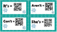 Christmas/Winter Contraction Task Cards with QR Scan Codes