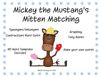 Winter Contractions, Antonyms, Synonyms (Mitten Matching)