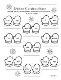 Winter Contractions Worksheet