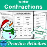 Winter Contractions Worksheets and Games
