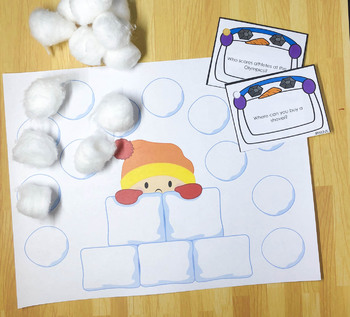 WH Questions and Conversation Prompts: Winter, Speech therapy