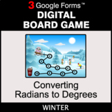 Winter: Converting Radians to Degrees - Digital Board Game