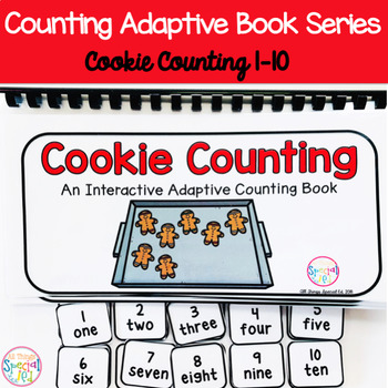 Winter Cookie Counting Adaptive Book (#1-10)