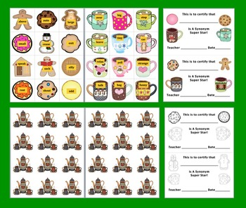 Winter Activities: Literacy Center:  Cookie Dunkin' Synonyms - 60 Pairs