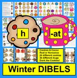 Winter Activities: DIBELS Onset Rime:  Cookies and Cocoa Set 1