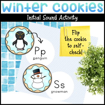 Winter Cookies Self-Checking Initial Sound Activity
