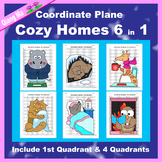 Winter Coordinate Graphing Picture: Cozy Homes 6 in 1