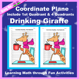 Winter Coordinate Graphing Picture: Drinking Giraffe